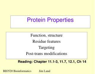 Protein Properties