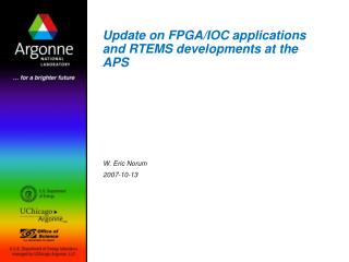 Update on FPGA/IOC applications and RTEMS developments at the APS