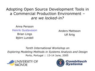 Tenth International Workshop on Exploring Modeling Methods in Systems Analysis and Design