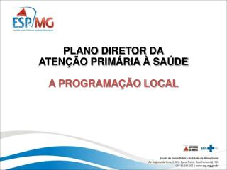 PLANO DIRETOR DA ATENÇÃO PRIMÁRIA À SAÚDE A PROGRAMAÇÃO LOCAL