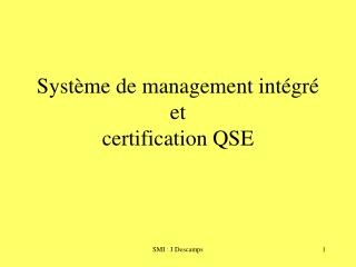 Syst me de management int gr  et certification QSE