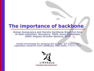 The importance of backbone