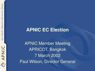APNIC EC Election