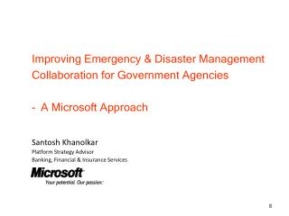 Improving Emergency & Disaster Management Collaboration for Government Agencies