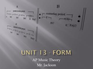 Unit 13 - Form
