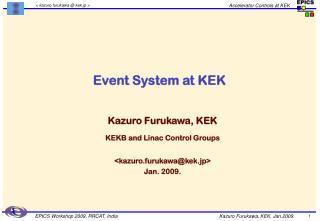 Event System at KEK