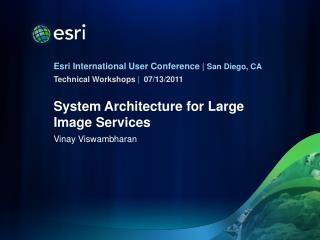 System Architecture for Large Image Services