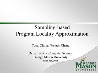 Sampling-based  Program Locality Approximation