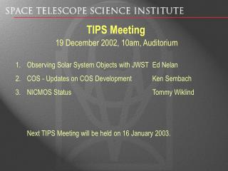 TIPS Meeting
