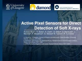 Active Pixel Sensors for Direct Detection of Soft X-rays
