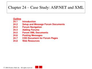 Chapter 24 – Case Study: ASP.NET and XML