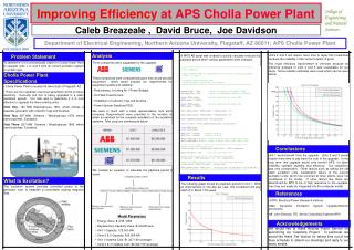 Improving Efficiency  at APS Cholla Power Plant