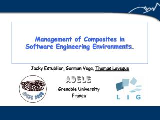 Management of Composites in Software Engineering Environments.