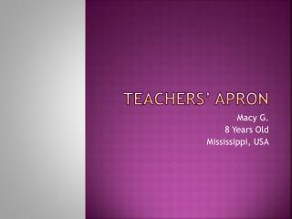 Teachers' Apron