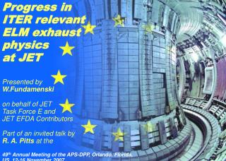 Progress in ITER relevant ELM exhaust physics at JET