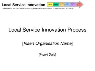 Local Service Innovation Process