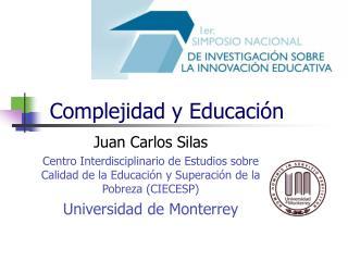 Complejidad y Educación