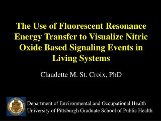 The Use of Fluorescent Resonance Energy Transfer to Visualize Nitric Oxide Based Signaling Events in Living Systems