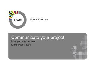 Communicate your project