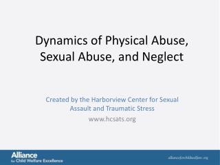 Dynamics of Physical Abuse, Sexual Abuse, and Neglect