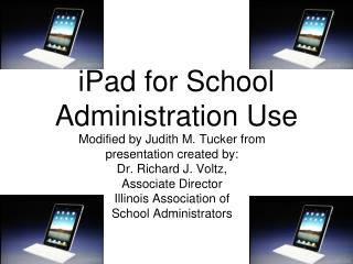 iPad  for School Administration Use