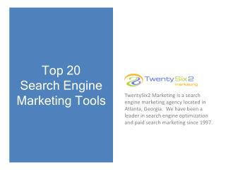 Top 20 Search Engine Marketing  Tools