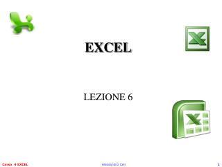 EXCEL LEZIONE 6