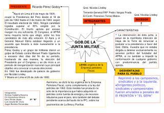 GOB.DE LA JUNTA MILITAR