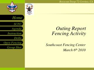 Outing Report Fencing Activity