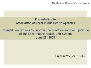 Graham W.S. Scott, Q.C.