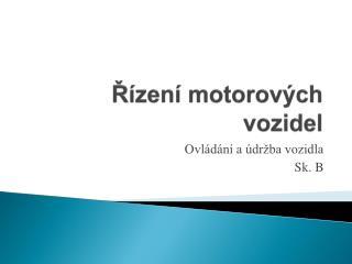 R zen  motorov ch vozidel