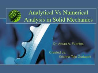Analytical Vs Numerical Analysis in Solid Mechanics