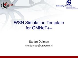 WSN Simulation Template for OMNeT