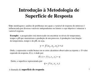 Introdu  o   Metodologia de Superf cie de Resposta