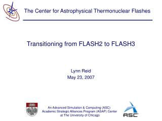 Transitioning from FLASH2 to FLASH3