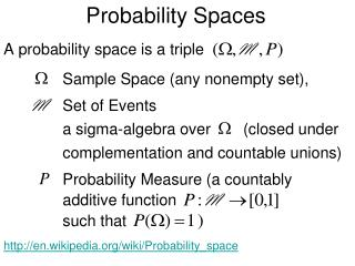 Probability Spaces