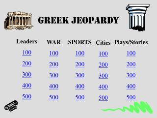 Greek Jeopardy