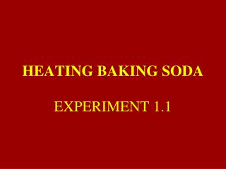 HEATING BAKING SODA