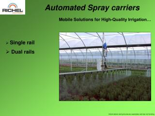 Automated Spray carriers