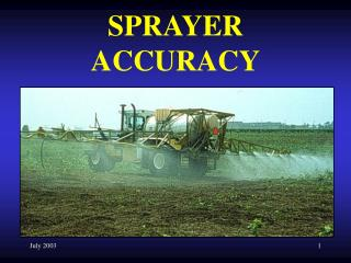 SPRAYER ACCURACY