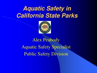 Aquatic Safety in  California State Parks