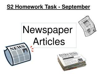 S2 Homework Task - September