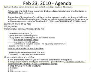 Feb 23, 2010 - Agenda
