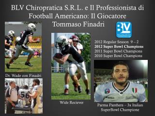 BLV  Chiropratica  S.R.L. e Il  Professionista di Football Americano: Il  Giocatore