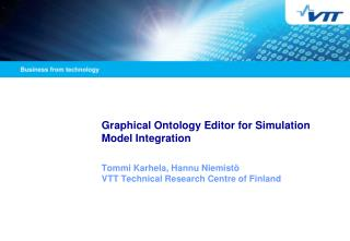 Graphical Ontology Editor for Simulation Model Integration