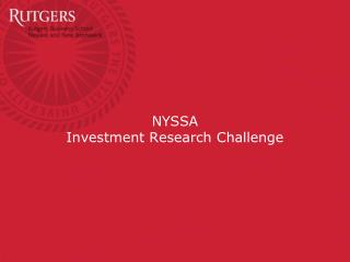NYSSA  Investment Research Challenge