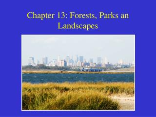 Chapter 13: Forests, Parks an Landscapes