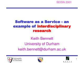 Software as a Service - an example of  interdisciplinary research
