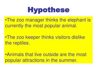 The zoo manager thinks the elephant is currently the most popular animal.