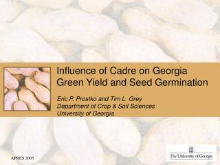 Influence of Cadre on Georgia Green Yield and Seed Germination